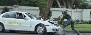 Chappie saat adegan menghancurkan mobil (Koleksi pribadi)