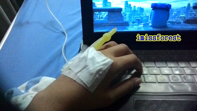Hiburan selagi dirumah sakit, ya Film dari laptop (dokumentasi pribadi, taken by ASUS Zenfone 4)